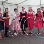 Hula hooping for vintage festivals